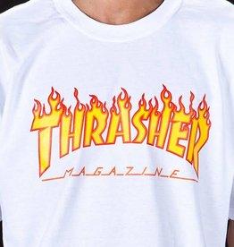 Thrasher Thrasher Flame Logo T-Shirt - White