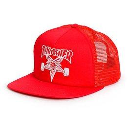 Thrasher Thrasher Skategoat Mesh Snapback Hat - Red One Size