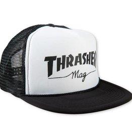 Thrasher Thrasher Mag Logo Printed Mesh Cap - White/Black