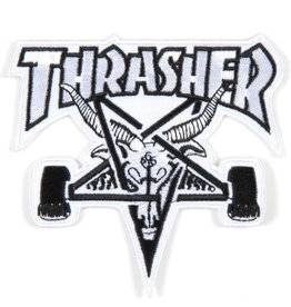 "Thrasher Thrasher Skategoat 4 x 3.5"" Embroidered Patch - White/Black"