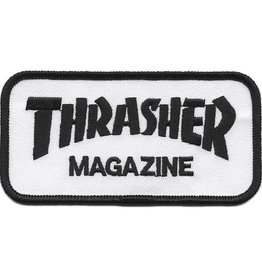 "Thrasher Thrasher 2 x 4"" Embroidered Patch - White/Black"