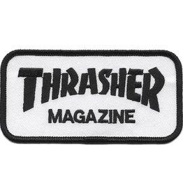 "Thrasher Thrasher 2 x 4"" Embroidered Patch - White/Black"