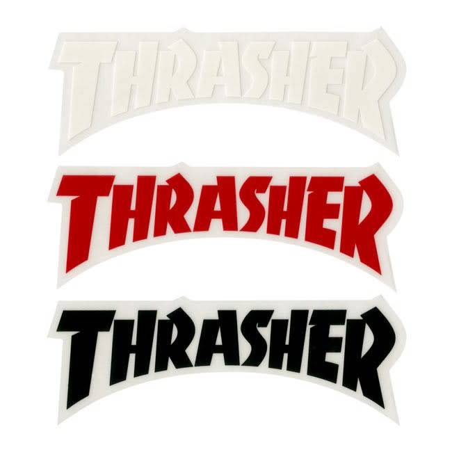 Thrasher thrasher die cut logo sticker various colors