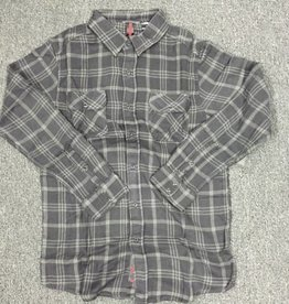Independent Independent Truck Co Rambler Button Up Flannel Long Sleeve Shirt - Black/Dark Grey