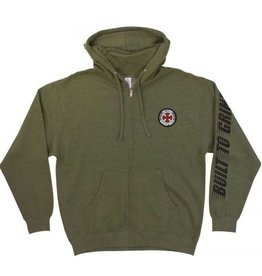 Independent Independent Truck Co. BTG Patch Zipped Hoody - Army Heather