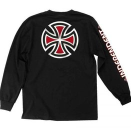 Independent Independent Bar/Cross L/S Men's T-Shirt - Black