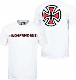 Independent Independent Bar/Cross Regular S/S Men's T-Shirt - White