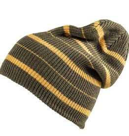 Analog Analog Striped Beanie - Green/Grey