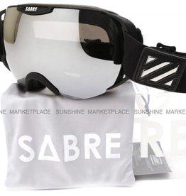Sabre Sabre - Krypt Snowboard Goggles - Matte Black Silver Reflective Grey / Yellow