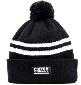 Grizzly Grizzly Striped Beanie One Size - Black