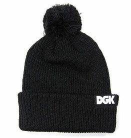DGK DGK All Day Classic Pom Beanie - Black