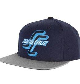 Santa Cruz Skateboards Santa Cruz Skateboards Santa Cruz OGSC Adjustable Starter Hat Navy/Grey