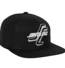 Santa Cruz Skateboards Santa Cruz OGSC Adjustable Starter Hat Black/Grey