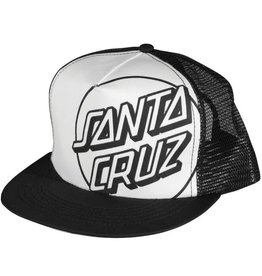 Santa Cruz Skateboards Santa Cruz Opus Trucker Mesh Hat - White/Black