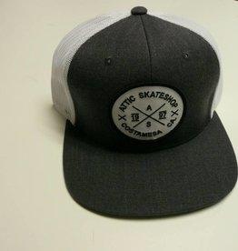 ATTIC ATTIC Trucker Mesh Snapback Hat - Heather Charcoal / White