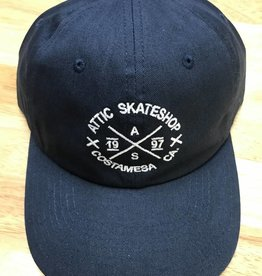 ATTIC ATTIC Dad Hat slider strapback adjustable in NAVY