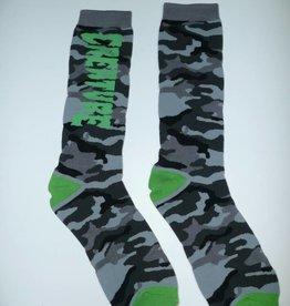 Creature Creature Ration Men's Crew Socks 1 Pair - Black Camo