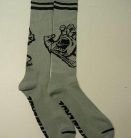 Santa Cruz Skateboards Santa Cruz Hand Tall Socks - Grey