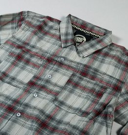 Santa Cruz Skateboards Santa Cruz Skateboards Cliff Button Up Flannel Shirt - Black/Red/Ombre