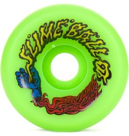 Santa Cruz Skateboards Santa Cruz - Slime Balls Vomits Wheels Neon Green 60mm 97a (set of 4)