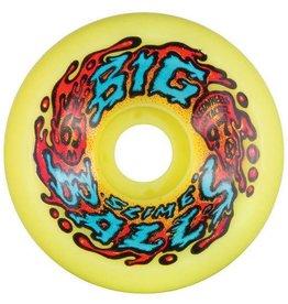 Santa Cruz Skateboards Santa Cruz - Slime Balls Big Balls Wheels Yellow 65mm 97a (set of 4)