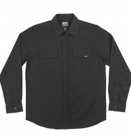 Creature Creature Skateboards Coroner Button Up Long Sleeve Shirt - Black