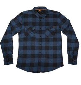 Santa Cruz Skateboards Santa Cruz Wilder Button Up Flannel Shirt - Dark Denim