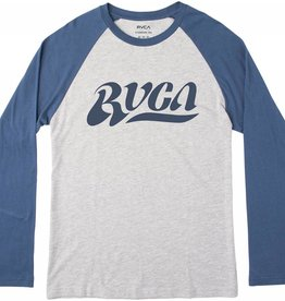 RVCA RVCA Wipeout L/S Baseball T-Shirt - Dark Denim