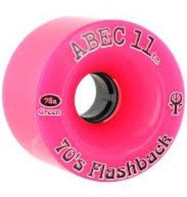 ABEC 11 ABEC 11 70's Flashback Longboard Wheels Pink 70mm 78a (Set of 4)
