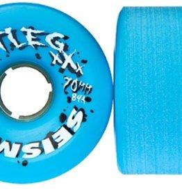 Seismic Seismic Bootleg Longboard Wheels 70mm Blue 84a (Set of 4)
