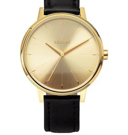 Nixon Nixon Kensington Leather Watch - Gold/Black