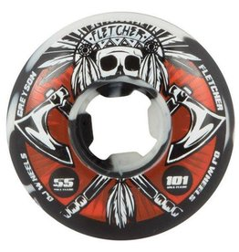 OJ Wheels OJ Fletcher Tomahawk Wheels  55mm 101a Black/White Swirls (set of 4)