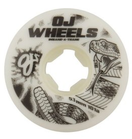 OJ Wheels OJ Rattlers EZ Edge Wheels White 53mm 101a (Set of 4)