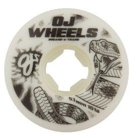 OJ Wheels OJ Rattlers EZ Edge Wheels White 53mm 101a (Set of 4)