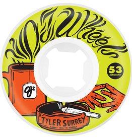 OJ Wheels OJ Surrey Tea and Spliff EZ Edge Wheels White 53mm 101a (Set of 4)