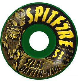 Spitfire Wheels Spitfire Formula Four Radial Silas Skunk Ape Wheels Green 53mm 99a (Set of 4)