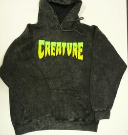 Creature Creature Skateboards Logo Pullover Hoody - Mineral Black
