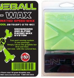 One Ball Cool X-Wax Snowboard Wax - Green Fluoro/Graphite