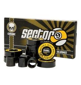 Sector Nine Skateboards Sector 9 Black Ball Ceramic Speed Bearings (8 pack)