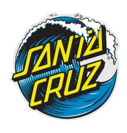 "Santa Cruz Skateboards Santa Cruz Wave Dot Sticker 3"" - Blue"