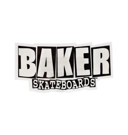 "Baker Baker Brand logo Sticker 4.5"" X 2.5"" Small  - Black/White"