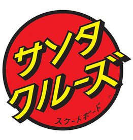 Santa Cruz Skateboards Santa Cruz Japanese Dot Sticker - Red/Yellow