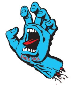 Santa Cruz Skateboards Santa Cruz Screaming Hand 6in Sticker - Blue/Red