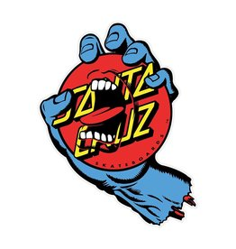 Santa Cruz Skateboards Santa Cruz Screaming Dot Sticker  - Blue/Red