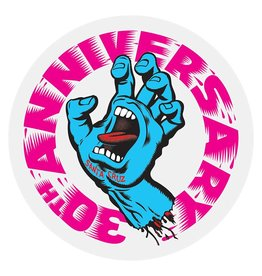 Santa Cruz Skateboards Santa Cruz Screaming Hand Anniversary Sticker  - Pink/Blue