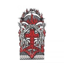 """Dogtown Dogtown Scott Oster 2"""" Die Cut Sticker - Grey/Red"""