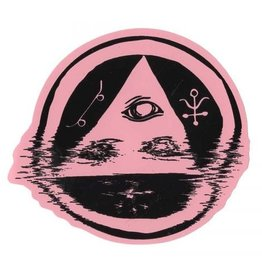 Welcome Skateboards Welcome Tracking Sticker Pink/Black 3.5""