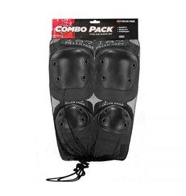187 Killer Pads 187 Killer Pads Combo Pack Knee/Elbow - Black
