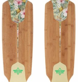 "Dusters Dusters Channel Hawaiian Complete Longboard 38"" - Green/Off White"