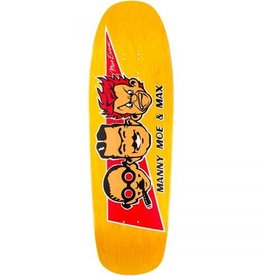 Black Label Black Label Max Evans Manny, Moe, and Max Re-Issue Deck Yellow Stain 9.5x32